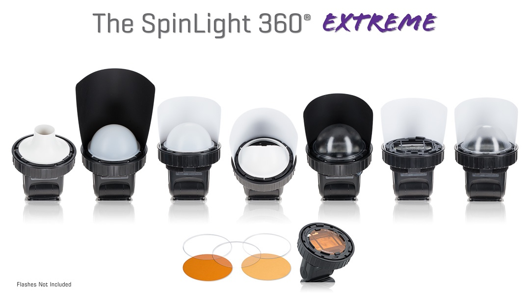 Spinlight 360 extreme modular system flash photography Spinlight360.com